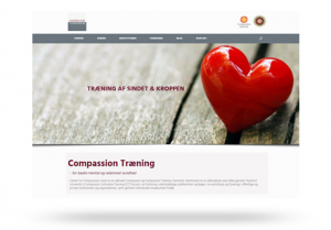 Responsive Wordpress hjemmeside - Center for Compassion