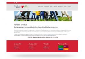 Hastigheds optimeret Wordpress hjemmeside til det Socialpædagogiske Opholddsted - Fonden Vividus