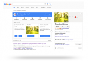 Fonden Vividus på Google Mybusiness
