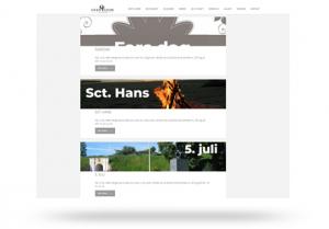 Blog funktion med events og nyheder